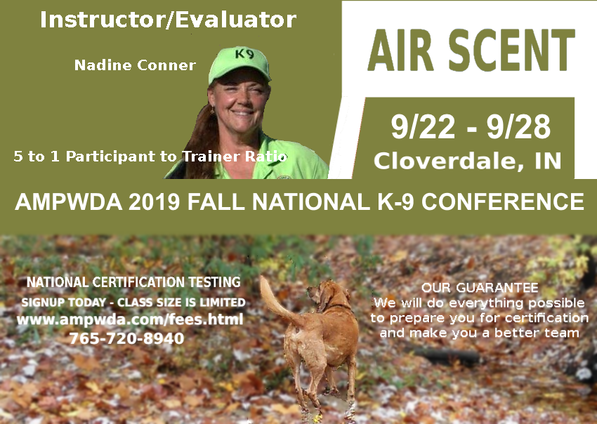 AMPWDA 2019 FALL SEMINAR - AIR SCENT LIVE FIND